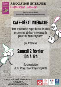 """Café-débat intéractif """" Etre princesse et super-héros : le poids des normes et des stéréotypes de genre au sein des jouets"""" @ Ludothèque Bastide"""