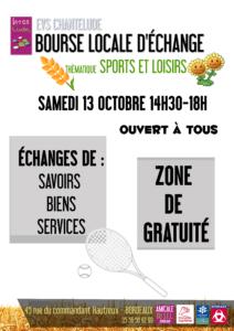 BLÉ : Bourse Locale d'Échange @ EVS Chantelude