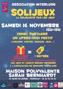 Solijeux, la solidarité par les jeux @ Ludothèque Berges du Lac