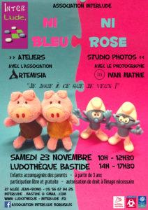 "Journée spéciale ""Ni bleu, Ni rose"" @ Ludothèque Bastide"