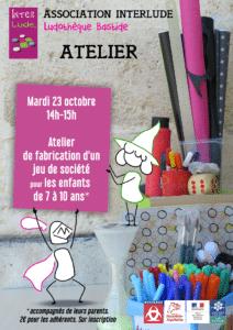 Atelier de fabrication 7-10ans @ Ludothèque Bastide