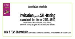 SEL-dating + soirée-jeux familiale @ EVS Chantelude